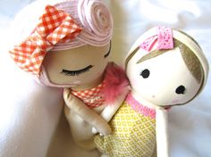 Big Sister Little Sister Custom Classic Cloth Doll by Mend