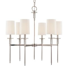 Hudson Valley Lighting 8516-PN 6 Light Amherst Chandelier  Part of the Amherst Collection by Hudson Valley Lighting     List Price$1,237.50Low Price GuaranteePrice$990.00 In StockYou Save$247.50You Earn990 Reward Points