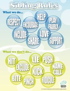 Sibling Rules - what we do, and what we don't do