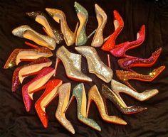 Glitter Louboutin Rainbow :)