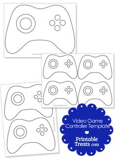 Here is a cool printable video game controller template you can use for your crafts and projects. These printable video game controller templates have the buttons and controls outlined on Xbox Party, Game Truck Party, Party Games, 10th Birthday Parties, Birthday Games, Boy Birthday, Birthday Ideas, Video Game Cakes, Video Game Party