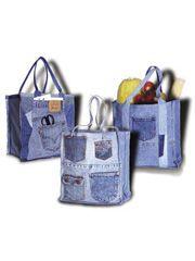 Double Green Shopping Bag Pattern - #355740