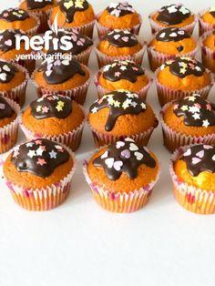 Muffin Recipes, Cake Recipes, Cap Cake, Mini Tart, Turkish Recipes, Desert Recipes, Frozen Yogurt, Food Design, Mini Cupcakes