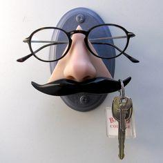 Wall mounted nose eyeglass holder Wall decor Novelty by ArtAkimbo