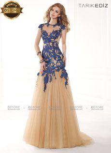 Vestido de festa maravilhoso, longo com renda e tule CAROL 92350 : Dstore, As Melhores Grifes dos EUA - Site Oficial
