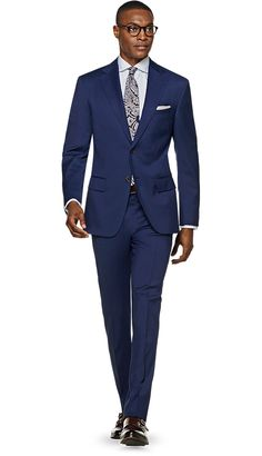 SuitSupply Napoli Blue Plain $400 (wool)
