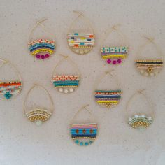 colorful earriings