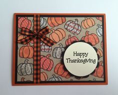 Handmade Happy Thanksgiving Card by JuliesPaperCrafts on Etsy