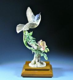 Royal Worcester Dorothy Doughty Lesser Whitethroat Bird  Wild Rose w Stand 2 | eBay