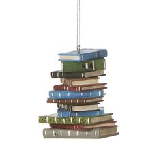 Pile of Books Ornament - would love this for our tree