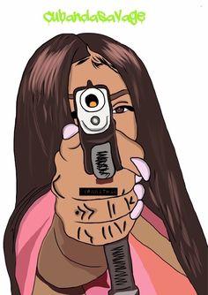 @hoetips✨ for more Black Girl Art, Black Women Art, Black Girls Rock, Black Girl Magic, Black Art, Art Girl, Cartoon Drawings, Cartoon Art, Art Drawings