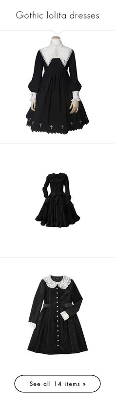 """""""Gothic lolita dresses"""" by fyrhp ❤ liked on Polyvore featuring dresses, lolita, op, lacy dress, vintage lace dress, layered dress, layered lace dress, double layer dress, lolita op and tops"""