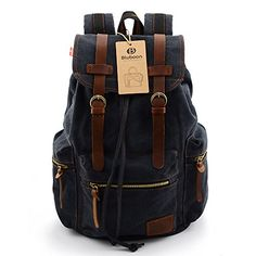BLUBOON(TM) Vintage Men Casual Canvas Leather Backpack Rucksack Bookbag Satchel Hiking Bag (black) BLUBOON http://www.amazon.com/dp/B00JUNSRT4/ref=cm_sw_r_pi_dp_s-l2vb0BT8ZXA