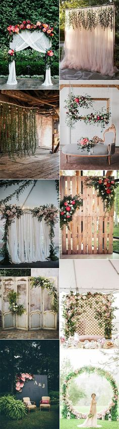 So much ceremony backdrop inspiration. I want to add this to my next design. Find more inspiration on my Pinterest board Concept Wedding Designs.