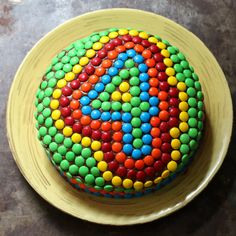 17 Apart: Kids' Birthday Cake Idea: Decorating With M&M's! 3 Year Old Birthday Cake, 4th Birthday Cakes, Homemade Birthday Decorations, Homemade Birthday Cakes, Smarties Cake, Bithday Cake, Number Cakes, Girl Cakes, Dessert