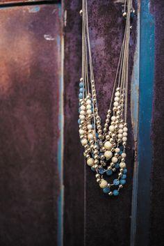 Collier perles en or et argent noir Lsonge