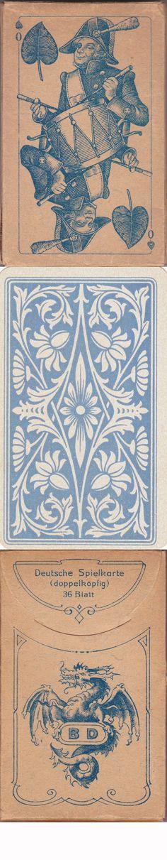 Kartenspiel von B. Dondorf GmbH in Frankfurt am Main um 1910 Dondorf No. 239.