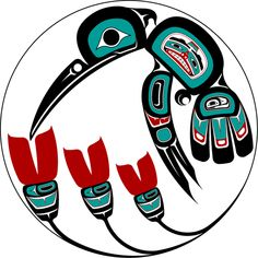 Hummingbird, Pacific Northwest native American art