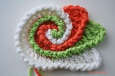 Freeform Crochet Spiral Scrumble - Tutorial ❥ 4U // hf