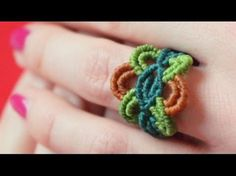 How to Make Colorful Macrame Ring Tutorials ~ The Beading Gem's Journal
