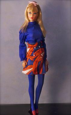 """Vintage Twist n Turn Barbie - Blonde Barbie is wearing """"All American Girl"""""""