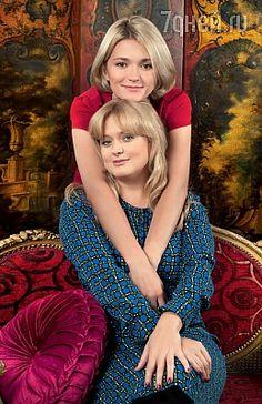 Анна и Надежда Михалковы-sisters Anna and Nadia Mikhalkov