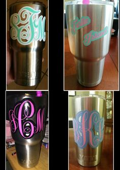 Personalized Adhesive Vinyl Decal Anchors For By BluetiqueDesigns - Vinyl decals for cups