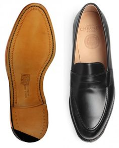 5702dc01808 Cheaney Cannon Mens Loafers in Black Calf Leather