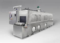 "C-24 conveyor parts washer:  24"" wide belt"