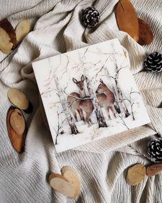 "@elusive_line ""Little storage box, with decoupage deer on top! ✨✨✨✨✨ . . . . . . #decoupage #decoupaged #vari…"" Wood Watch, Decoupage, Deer, Christmas Decorations, Storage, Box, Wooden Clock, Purse Storage, Snare Drum"