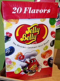 JELLY BELLY 20 FLAVORS - GOURMET JELLY BEANS CANDY  GIANT PARTY BOX  1.31 Pounds #JellyBelly