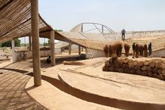 The cultural centre designed by Toshiko Mori in a rural village in Senegal – commissioned by Josef and Anni Albers Foundation – features local materials and local builders to give shape to an artist residency that is also a hub for the local community. Architecture Durable, Architecture Design, Define Architecture, Sustainable Architecture, Sustainable Design, Landscape Architecture, Vernacular Architecture, Futuristic Architecture, Contemporary Architecture