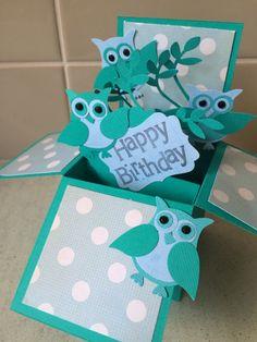 Owl pop box card