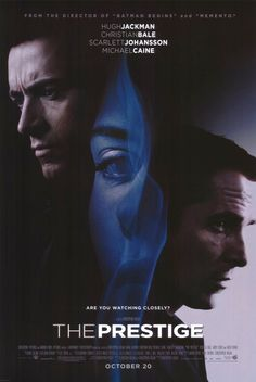 The Prestige. Very interesting movie. Something you have to watch twice to comprehend it...and even then, you're not entirely sure...brilliant.