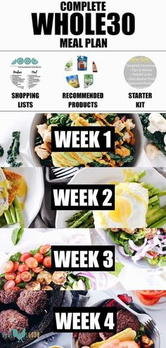 This meal plan has everything you need to make your a success! It includes every recipe for your a helpful starter kit, product recommendations and printable recipes and shopping lists for each week. Easy meal prep and an Whole Foods Meal Plan, Diet Meal Plans To Lose Weight, Paleo Meal Plan, Ketogenic Diet Meal Plan, Whole Food Recipes, 30 Day Whole 30 Meal Plan, Paleo Food, While 30 Meal Plan, Daily Meal Plan Healthy
