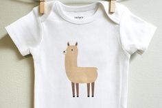 Hey, I found this really awesome Etsy listing at https://www.etsy.com/listing/153117678/baby-clothes-llama-baby-bodysuit