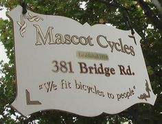 Mascot Cycles, since 1938. 381 Bridge Road Richmond
