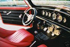 Mini Cooper S, Rover Mini Cooper, Mini Cooper Classic, Cooper Car, Classic Mini, Classic Cars, Mini Cooper Interior, Car Interior Upholstery, Mini Morris