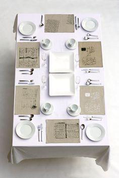 Set of 4 Mixed Linen Place Mats. $65.00, via Etsy.