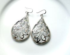 Hey, I found this really awesome Etsy listing at https://www.etsy.com/il-en/listing/184487614/large-silver-earrings-silver-drop