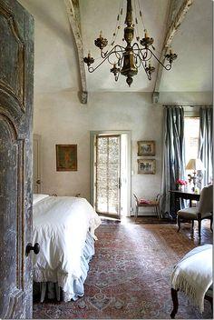 Rustic, elegant bedroom