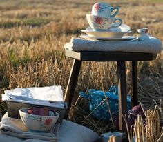tea cups...nothing like a beautiful morning and a cup of tea!