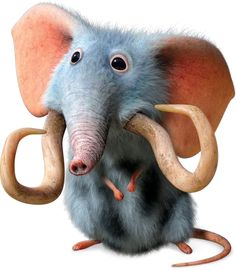 The Croods - Mousephant is a peculiar animal. With it large ears it can hear from miles away and with it trunk is can make loud scary trumpets.