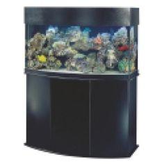 Saltwater Aquariums 101 - Getting Started: Oceanic 72 gallon Bow Front Aquarium
