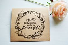 How about if you ask your special girl to be part of your special day with this personalized card from The Blush Market. #wedding #weddingparty #bridesmaid #maidofhonor #flowergirl #bridalparty #gettingmarried