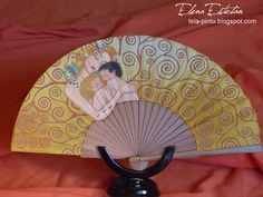 @todo color: Maternidad Hand Held Fan, Hand Fan, Vintage Fans, Modern Fan, Gustav Klimt, Fabric, Breeze, Beautiful, Jewelry