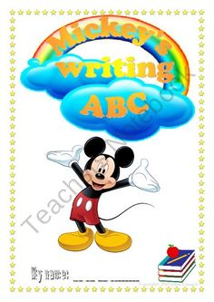 Mickeys writing ABC from Effective teaching aids on TeachersNotebook.com (17 pages)