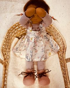Isla - a 16''/42 cm tall Handmade Waldorf Doll | > Available Dolls | MonPilou Organic Cleaning Products, Waldorf Dolls, Doll Clothes, Handmade, Color, Tricot, Baby Doll Clothes, Colour, Craft