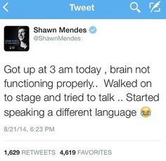 Shawn Mendes languages