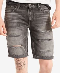 8baf74a7 Levi's® Men's 511 Slim-Fit Cutoff Ripped Jean Shorts Levi Shorts, Ripped  Jean